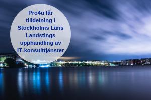 Pro4us ramavtal med SLL