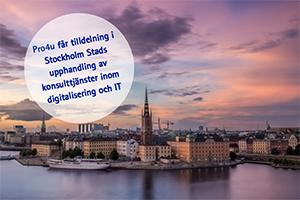 Pro4u får tilldelning i Stockholms stads upphandling