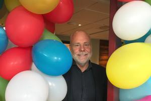 Ett stort fång ballonger till Fredrik